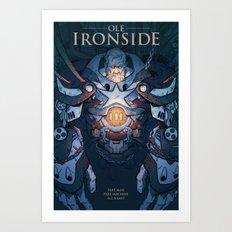 Ole Ironside Art Print
