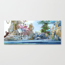 Looking at the city of paradise from far away Canvas Print