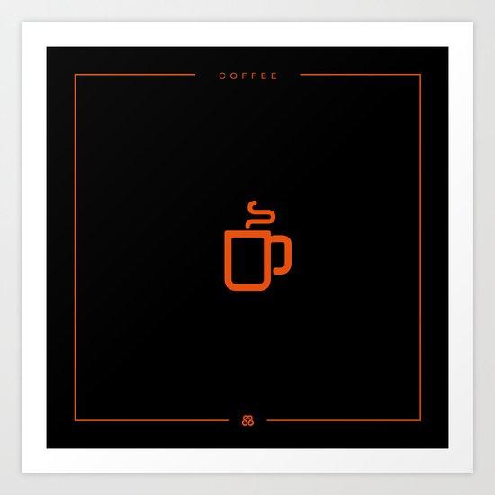 Coffee: The Drink BLACK Art Print