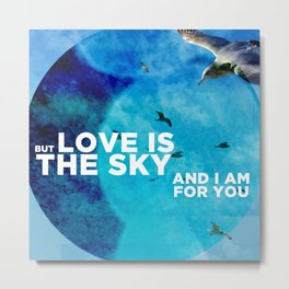 Love Is The Sky Metal Print