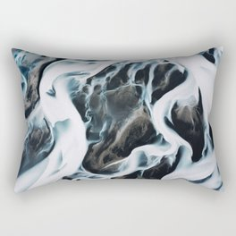 Aerial of an abstract River in Iceland Rectangular Pillow