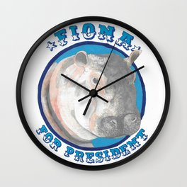 Fiona for President Wall Clock