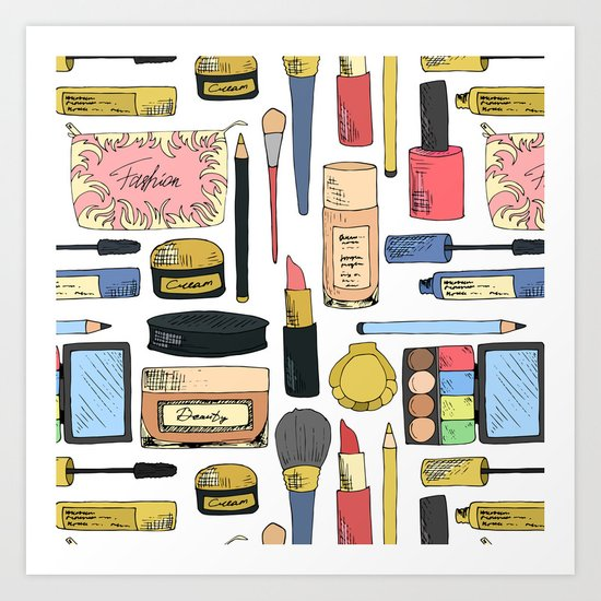 Cosmetic pattern Art Print