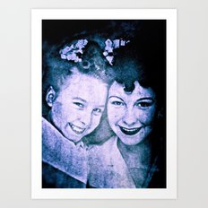 Mother and Daughter - circa WWIIpsd - 112 of 479 copy Art Print