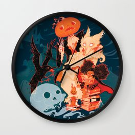 Spooky Books Wall Clock