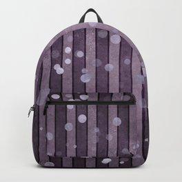 Ultra Violet Purple Stripes Polka Dots Backpack