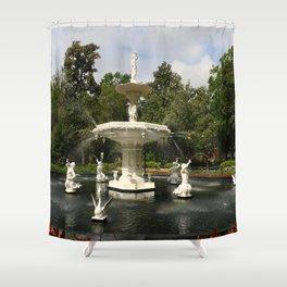 Forsyth Fountain in Forsyth Park Shower Curtain