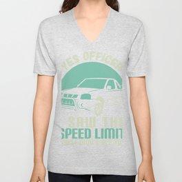 Yes Officer Speeding design, Car Tee, Mechanic graphic Unisex V-Neck