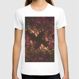 Fractal Leaves Red Glow T-shirt