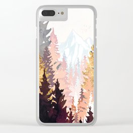 Wine Forest Clear iPhone Case