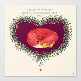 Weird LOVE Canvas Print