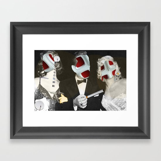Star Mask Framed Art Print