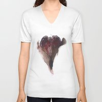 vagina V-neck T-shirts featuring AshleyLane's Vagina Print No.3 by Nipples of Venus