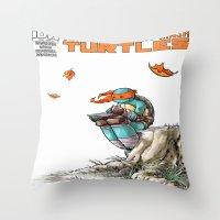 ninja Throw Pillows featuring NINJA by Don Kuing