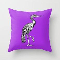 Florida Egret Throw Pillow