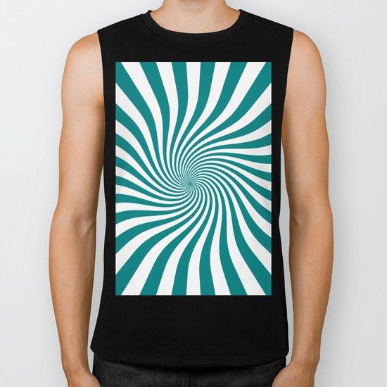 Swirl (Teal/White) Biker Tank