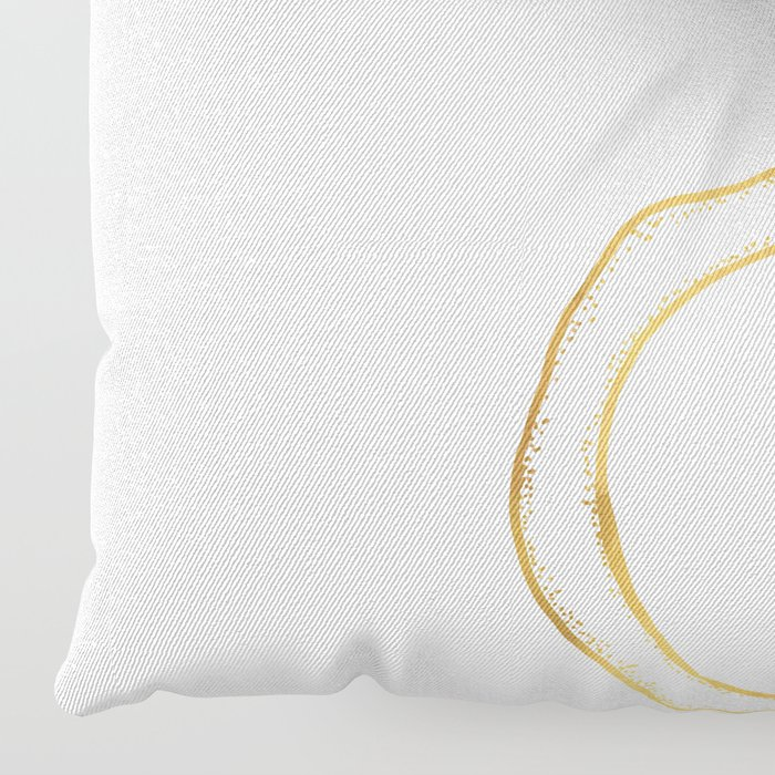 the river holds a flower . gold Floor Pillow