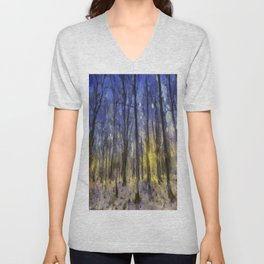 The Forest Van Gogh Unisex V-Neck