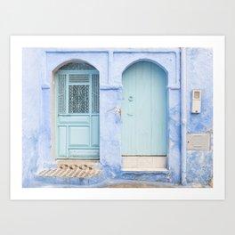 Door - Chefchaouen VI - The Blue City, Morocco Art Print