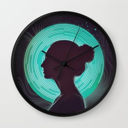Delta Waves Wall Clock