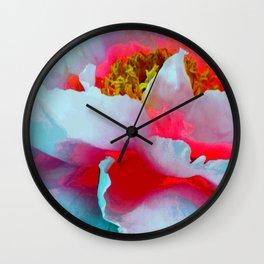Vibrant Multicolor Floral teture Wall Clock