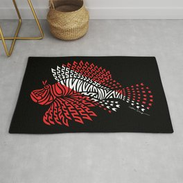 Tribal Scuba Flag Lionfish Rug