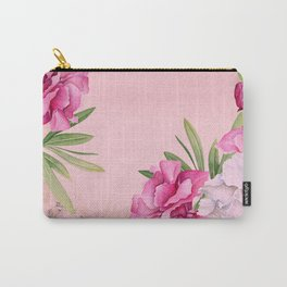 Tropical Pink And White Summer Flowers Carry-All Pouch