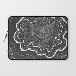 Tree Rings of Grey Laptop Sleeve
