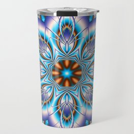 Fantasy flower in purple and blue Travel Mug