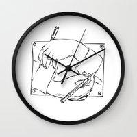 escher Wall Clocks featuring Escher by franzgoria