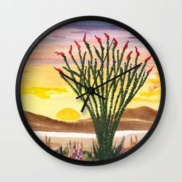 Beautiful Ocotillo 1 Wall Clock