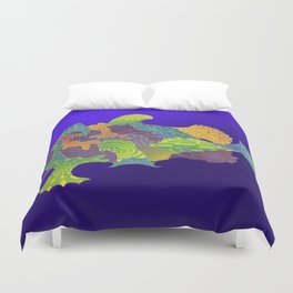 Frogfish Relief Print Duvet Cover