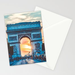 France Photography - Arc De Triomphe In The Sunrise Stationery Cards