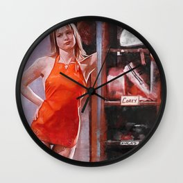 Painting Illustration Of Gina From The Cult Classic Movie Empire Records Wall Clock