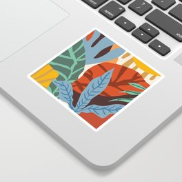 Wherever life plants you, bloom with grace #illustration Sticker