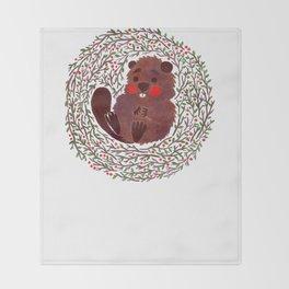 Baby Beaver Throw Blanket