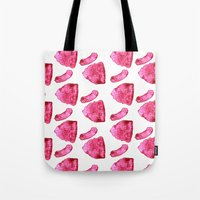 meat Tote Bags featuring Meat by XiaBoiii