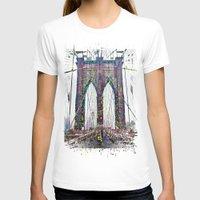 brooklyn bridge T-shirts featuring brooklyn bridge by Vector Art