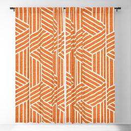 Slice Orange Blackout Curtain