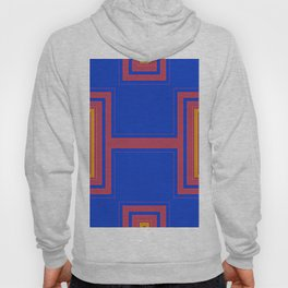 Abstract Orange Red Rectangle Hoody
