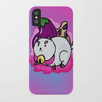 puppycat iPhone & iPod Cases featuring A Chubby Puppycat by Kristin Frenzel