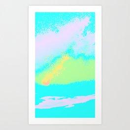 Pastel Splatter Art Print