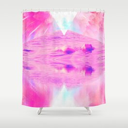 Pink Swimming Pool by GEN Z Shower Curtain