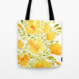 Watercolor California poppies (Quad set, #2) Tote Bag