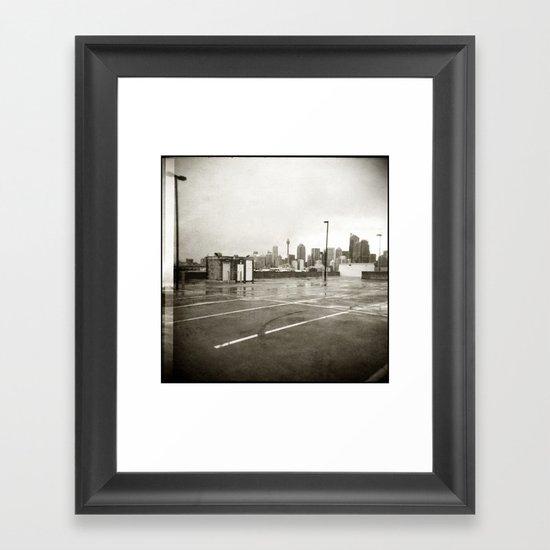 { rain dance } Framed Art Print