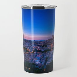 Panoramic view of the medieval center of the city of Toledo, Spain. Travel Mug