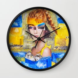 The Sea, my pool Wall Clock