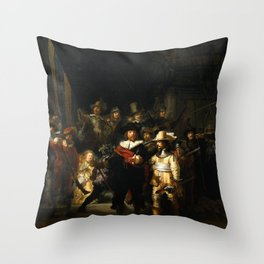 The Night Watch Painting Throw Pillow