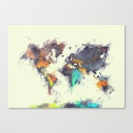 world map 106 #worldmap #map Canvas Print