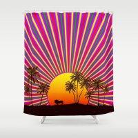 reggae Shower Curtains featuring Sunshine Reggae by A-Devine